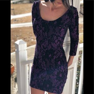 Betsy Johnson purple mini dress size small
